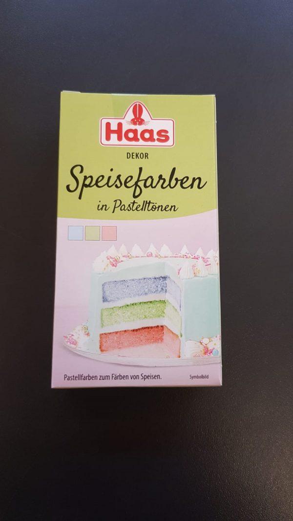 Haas Speisefarben Pastell 1