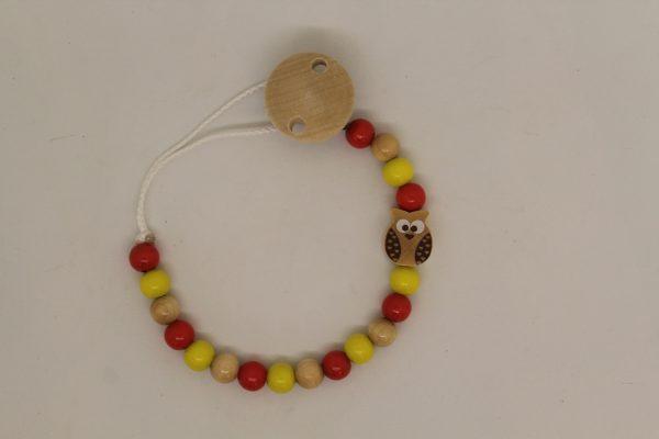 Schnullerkette gelb-rot 1