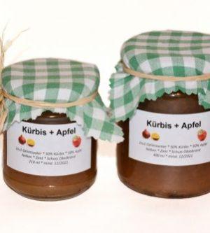 Kürbis Apfel