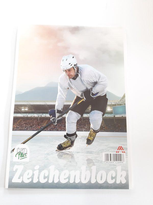 """Zeichenblock A4 """"Eishockeyspieler"""" 1"""