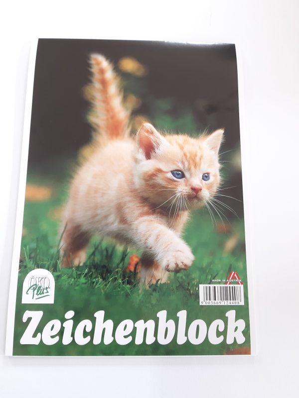 "Zeichenblock A4 ""Katze"" 1"