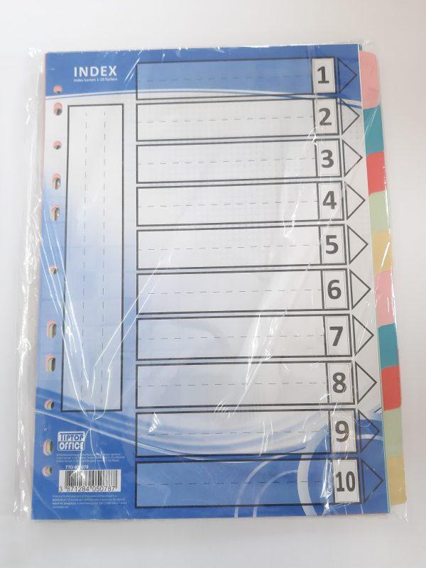 Register karton 10er 1