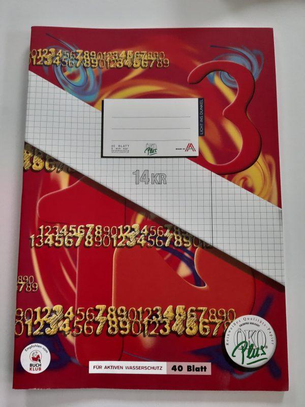Heft A4 40 Blatt kariert mit Korrekturrand 1