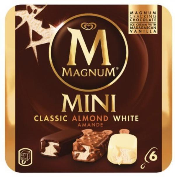Eskimo Magnum Mini Classic + Almond + White 6 Stück