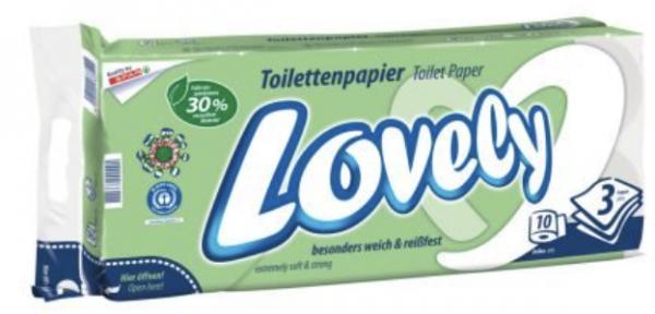 Lovely Toilettenpapier weiß / 3-lagig 10 Rollen