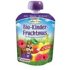 Bio Kinder Fruchtmus lila 1