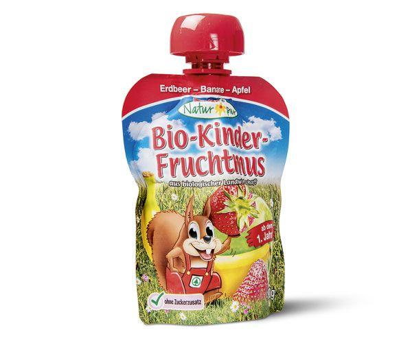 Bio Kinder Fruchtmus rot 1