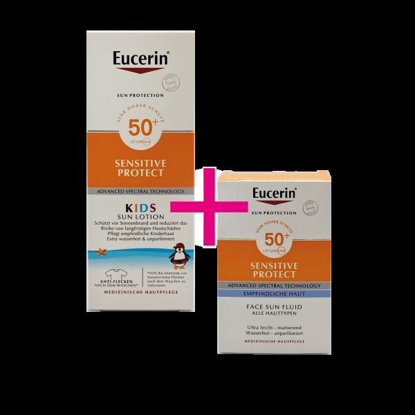 Eucerin Sensitive Kids Sun Lotion + Lotion Extra Light LSF 50+ 1