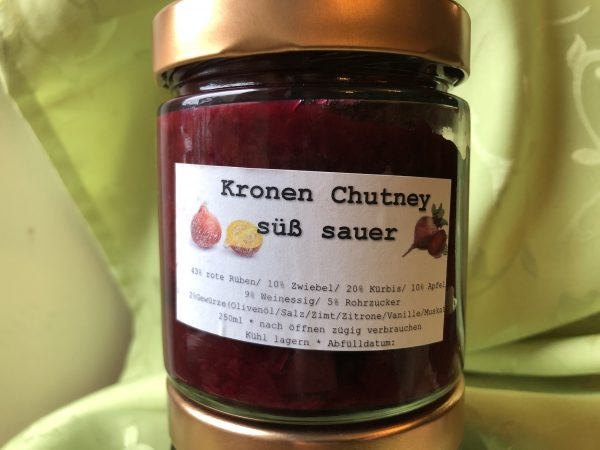 Kronen Chutney rote Rüben süß-sauer 1