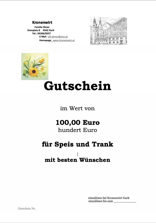 Gutschein Gasthof Kronenwirt 1