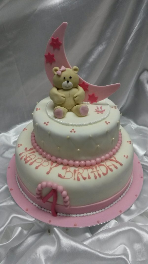 Geburtstagstorte rosa-weiss 1