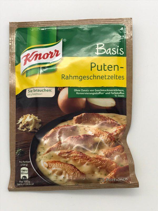 Knorr Basis Puten-Rahmgeschnetzeltes 1