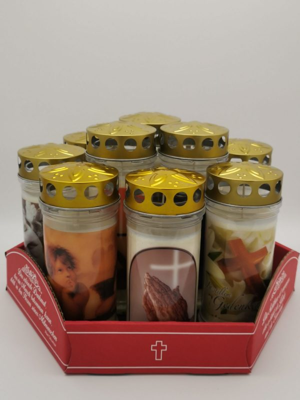 Kerzenset in Cellophan verpackt 1