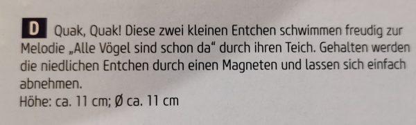 """Spieluhr """"Ententanz"""" 1"""