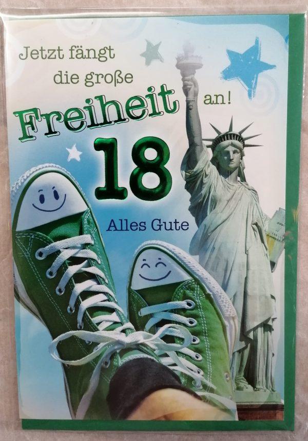 """Grußkarte """"Jetzt fängt die große Freiheit an"""" 1"""