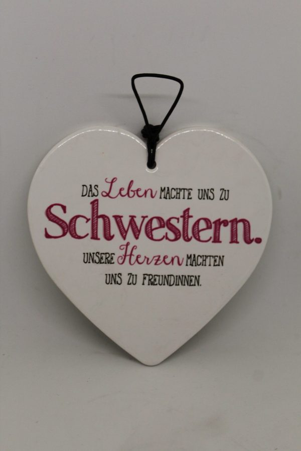 "Wandschmuck ""Schwester"" 1"