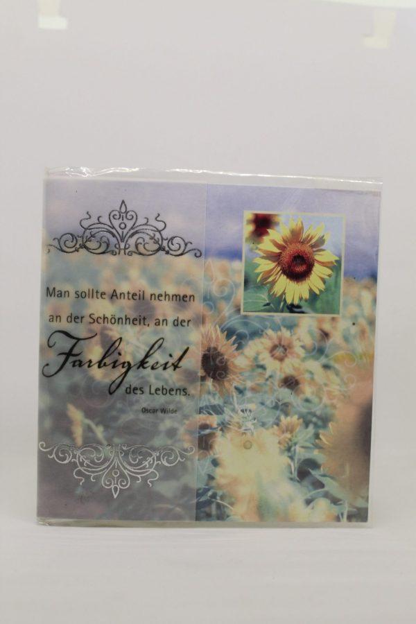 "Grußkarte ""Geburtstag Sonnenblume"" 1"