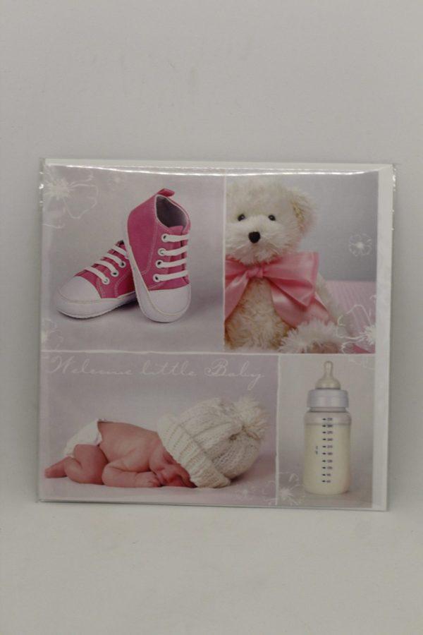 "Grußkarte ""Geburt rosa"" 1"