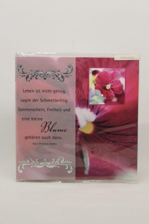 "Grußkarte ""Geburtstag Blume"" 1"