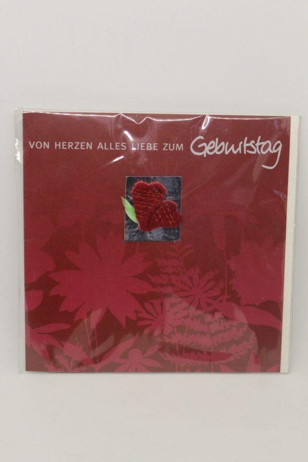 """Grußkarte """"Geburtstag von Herzen"""" 1"""