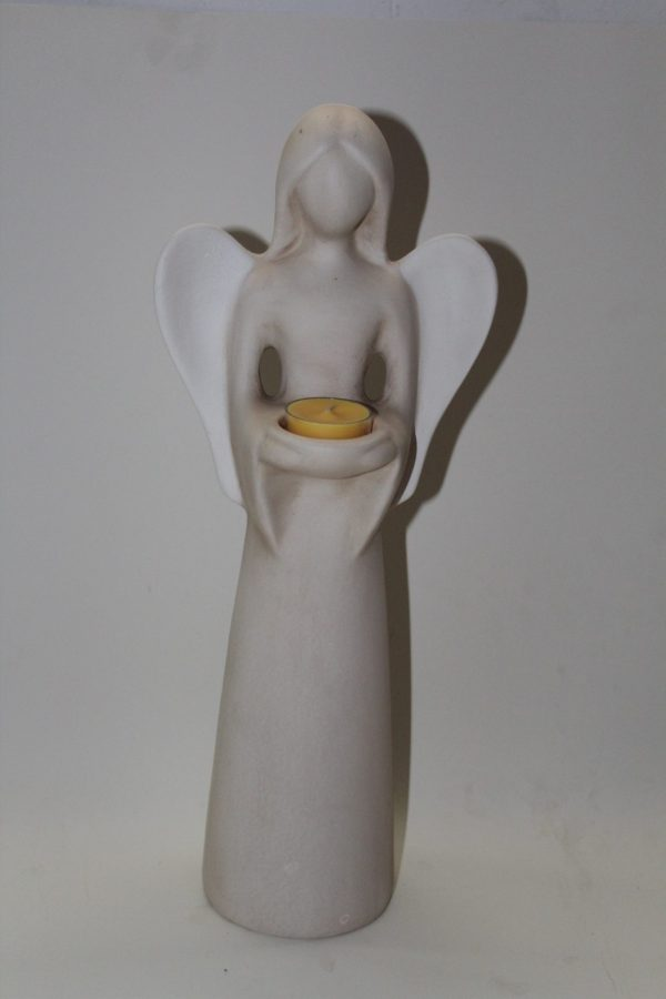 Engel mit Teelicht-stehend 1