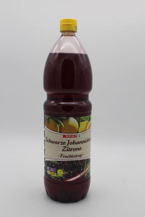 SPAR Fruchtsirup Schwarze Johannisbeer-Zitrone 1,5l 1