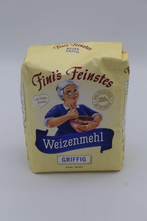 Finis feinstes Weizenmehl Griffig 1