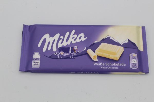 Milka Weiße Schokolade 100g 1