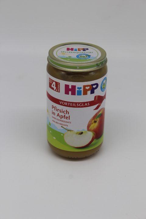 Hipp Pfirsich in Apfel 1