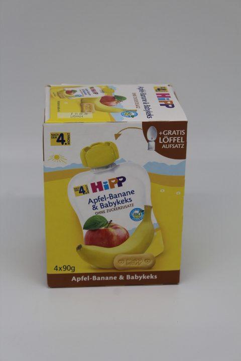 Hipp Bio Apfel-Banane & Babykeks 4x90g 1