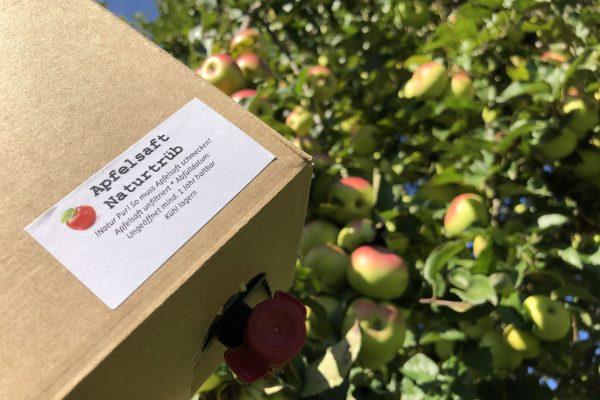 Apfelsaft Box