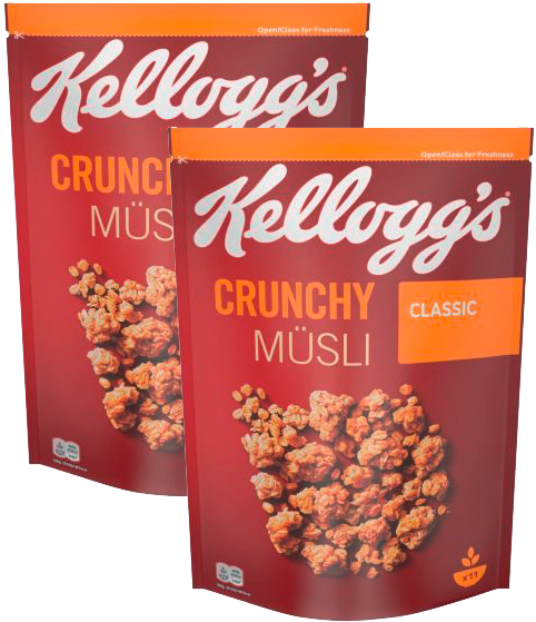 Kelloggs Crunchy Müsli Classic, 2 Stk. 1