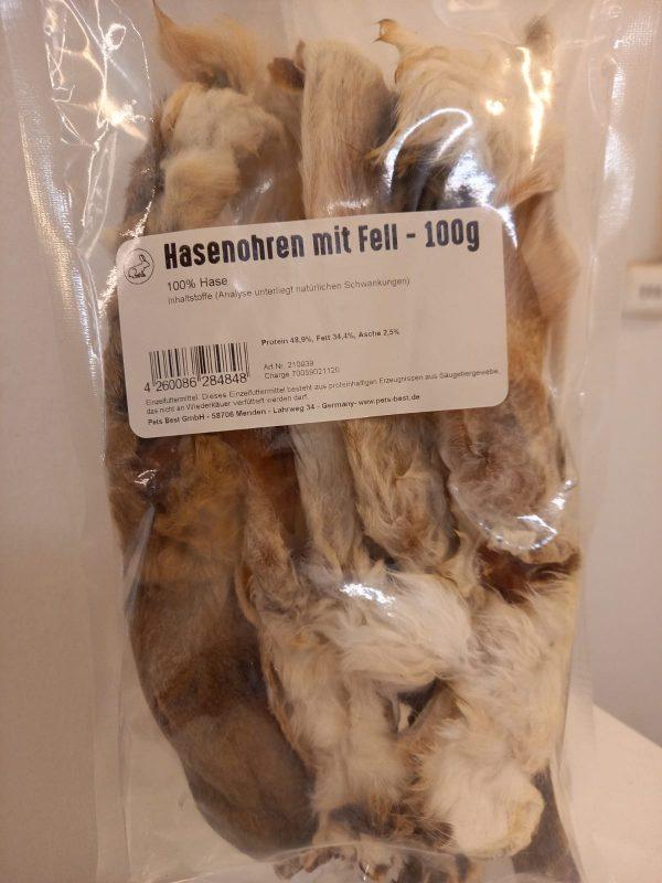Hasenohren mit Fell 100g 1