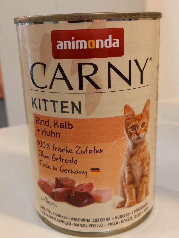 Carny Kitten Rind & Kalb & Huhn 400g 1