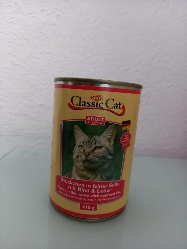 Classic Cat Rind & Leber 415g 1