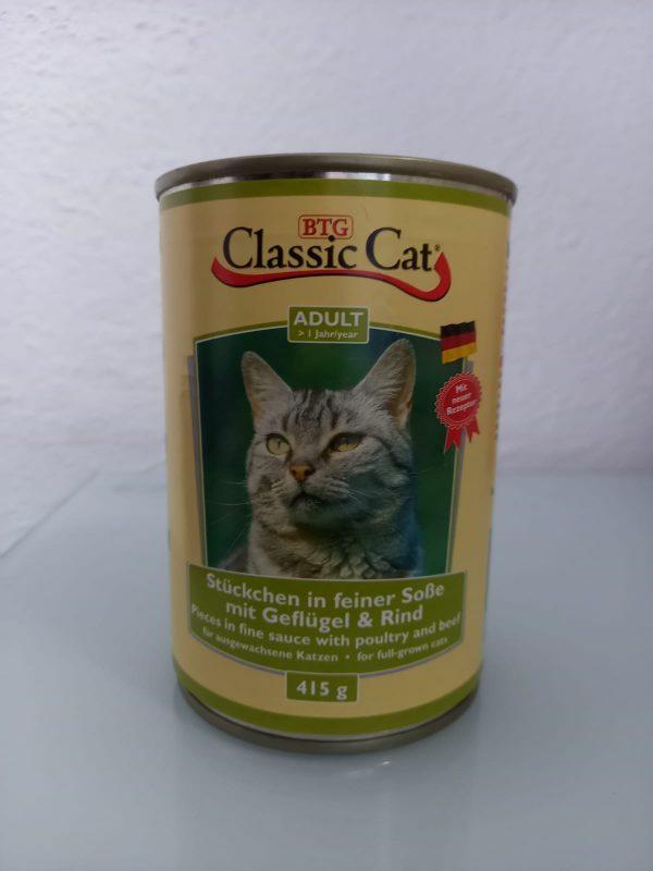 Classic Cat Geflügel & Rind 415g 1