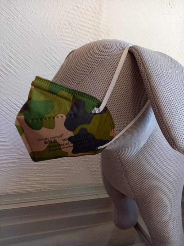 FFP2 Maske camouflage grün 1