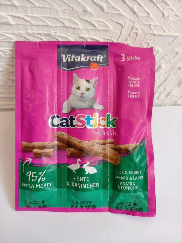 Vitakraft Cat Stick Ente & Kaninchen 3Stk 1