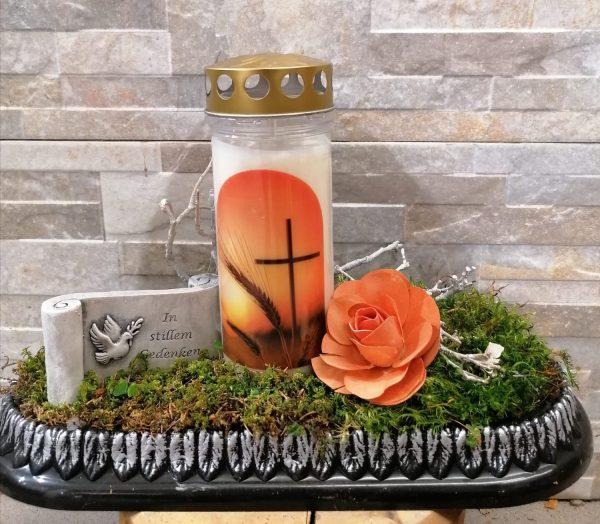 Kerze dekoriert länglich 1