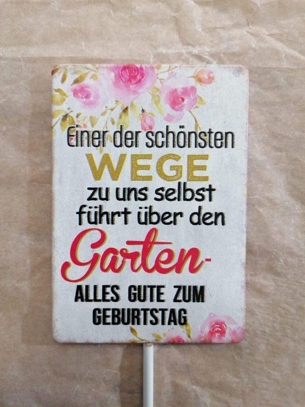 "Metallschild ""Garten"" 1"