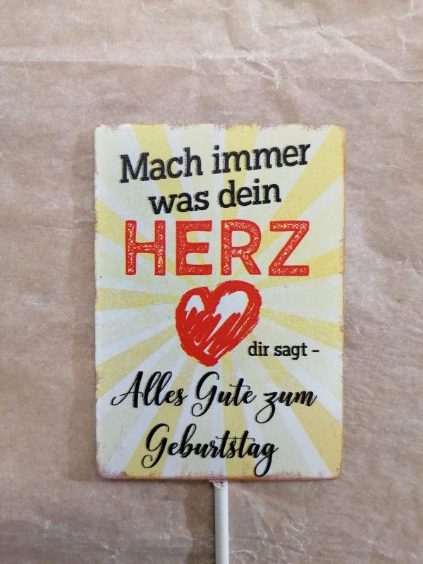 """Metallschild """"Herz"""" 1"""