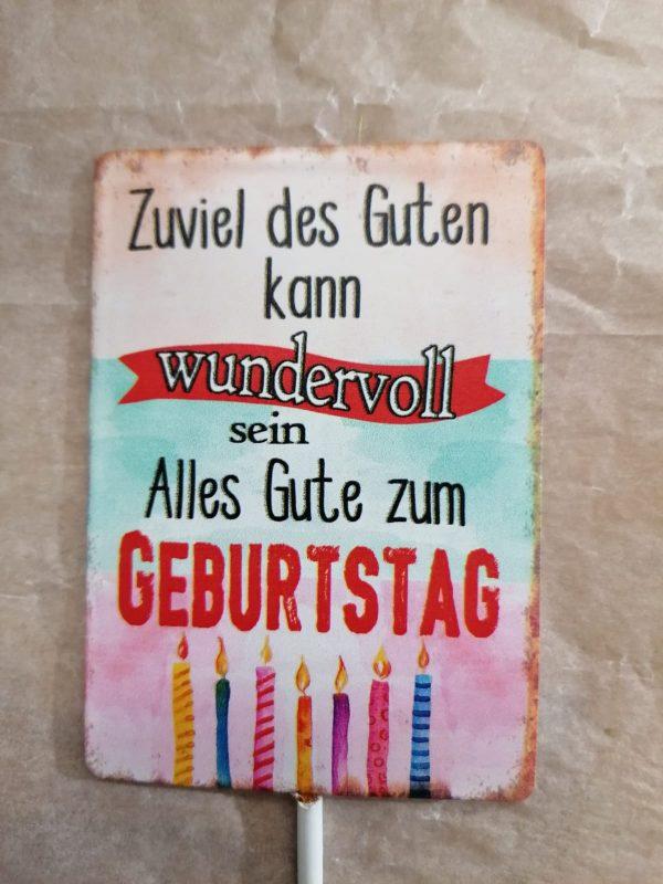 "Metallschild ""wundervoll"" 1"