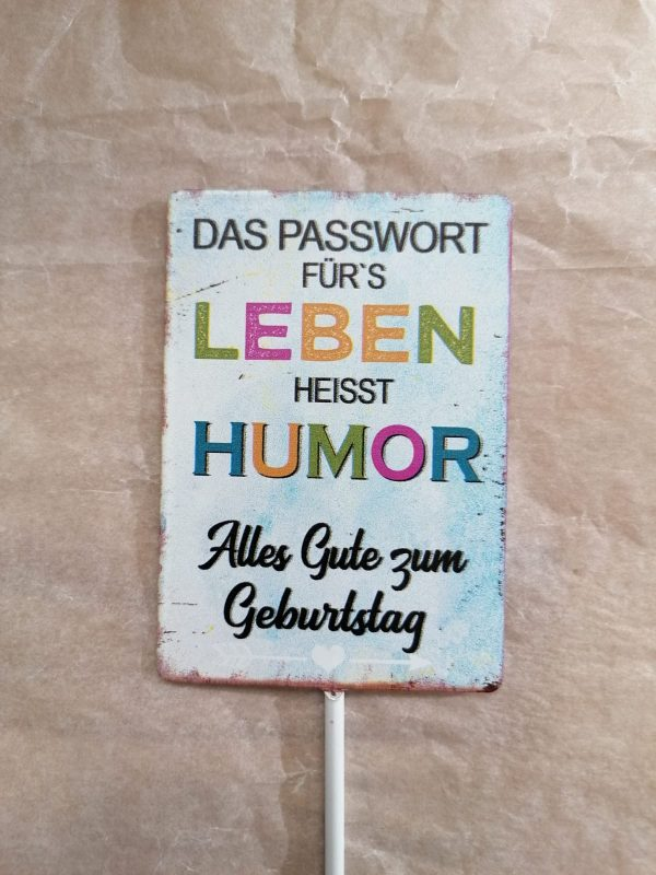 "Metallschild ""Humor"" 1"