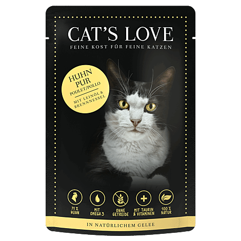 Cats Love Huhn Pur 85g 1