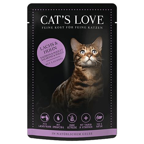 Cats Love Lachs & Huhn 85g 1
