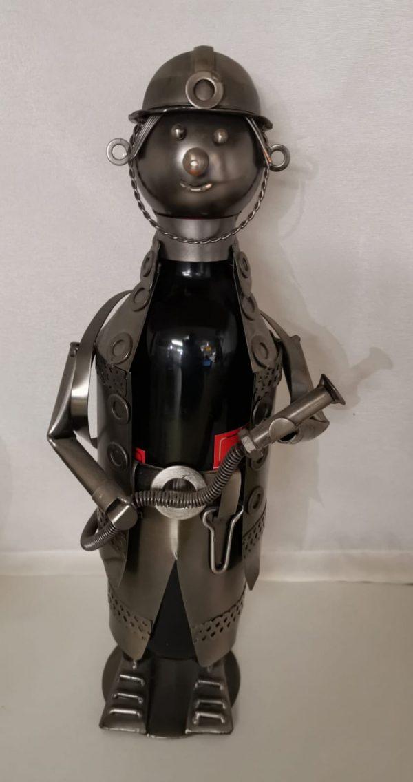 """Weinflaschenhalter """"Feuerwehrmann"""" 1"""