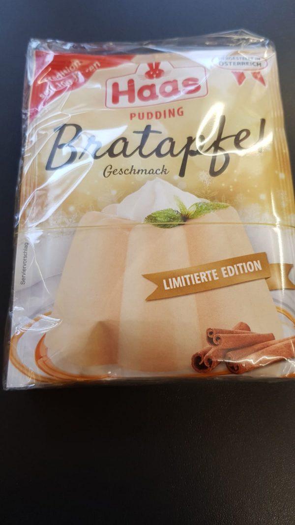Haas Pudding Bratapfel 3er 1
