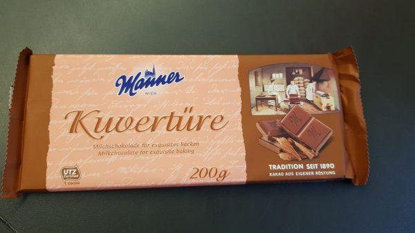 Manner Kuvertüre Milchschokolade 1