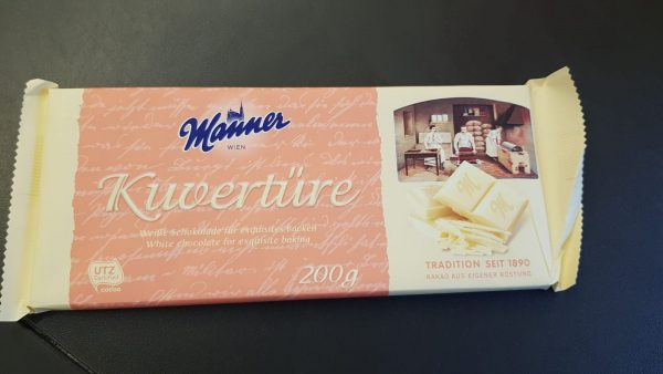 Manner Kuvertüre Weiße Schokolade 1