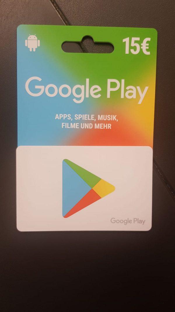 GooglePlay Gutschein 1